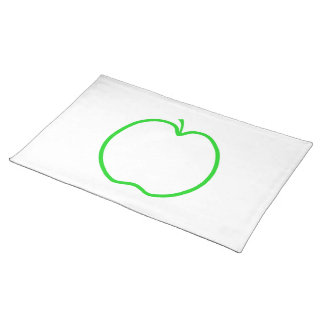 Green Apple Outline. Placemat