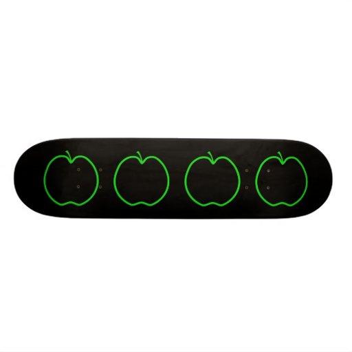 Green Apple Outline. Skateboard Decks