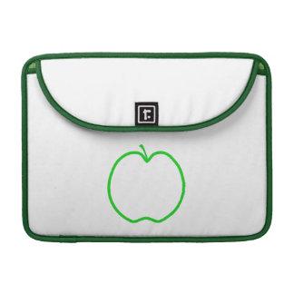 Green Apple Outline. Sleeve For MacBook Pro
