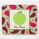 Green Apple / Paisley Teacher Mousepad