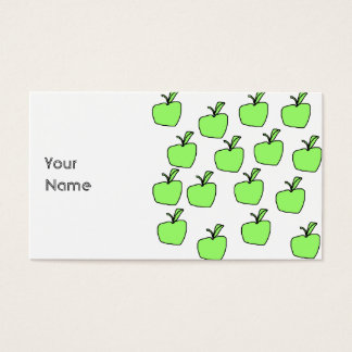 Green Apple Pattern. Business Card