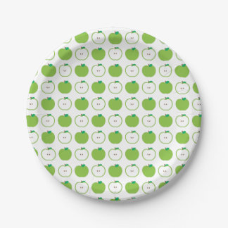 Green Apple Pattern Paper Plate 7 Inch Paper Plate