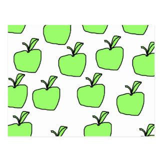 Green Apple Pattern. Postcard