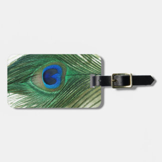 Green Apple Peacock Sill Life Luggage Tag
