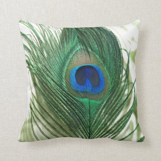 Green Apple Peacock Sill Life Throw Pillow