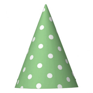Green Apple Polka Dot Party Hat