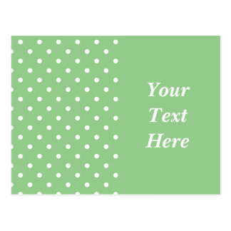 Green Apple Polka Dot Postcard Template Post Cards