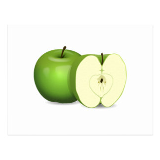 Green Apple Post Card