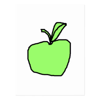 Green Apple. Postcard