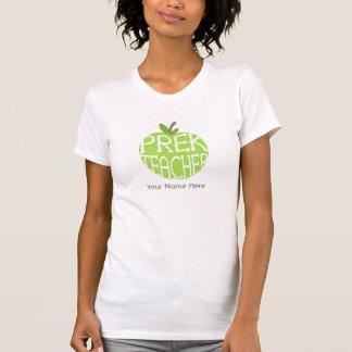 Green Apple Pre Kindergarten Teacher Shirt