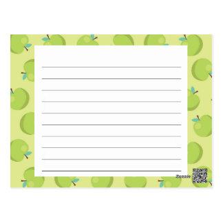 Green Apple Recipe Card Post Card