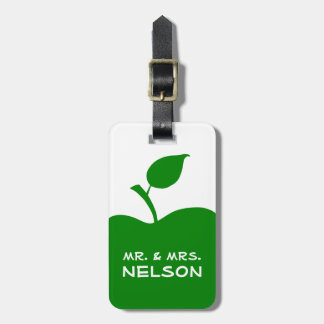 Green Apple Shape Luggage Tag