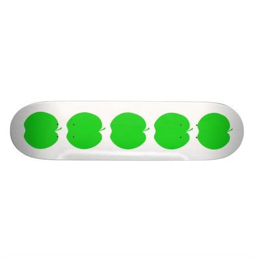 Green Apple. Custom Skateboard