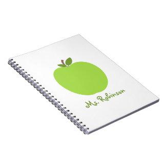 Green Apple Spiral Notebook For Teachers
