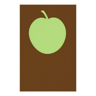 Green apple stationery