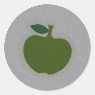 green apple round stickers