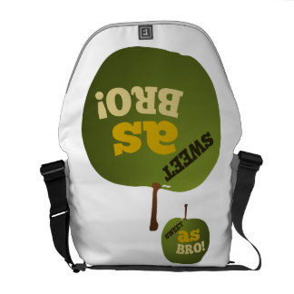 Green apple SWEET AS BRO Messenger Bag