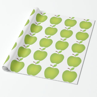Green Apple Teacher's Wrapping Paper