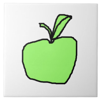 Green Apple. Large Square Tile