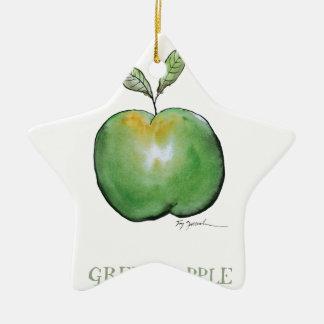 green apple, tony fernandes christmas ornament