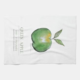 green apple, tony fernandes tea towel