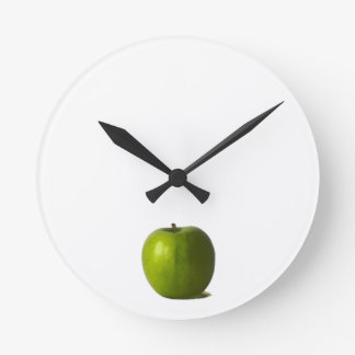 Green Apple Wall Clock