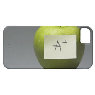Green apple with adhesive note with letter A and Barely There iPhone 5 Case