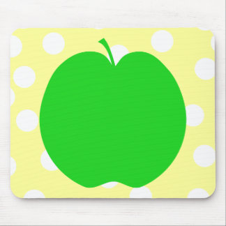 Green Apple with Spotty Background. Mousepad