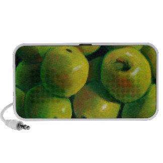Green Apples in Oil Pastel Speakers