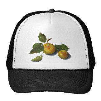 Green Apples: Original Color Pencil Art Mesh Hat