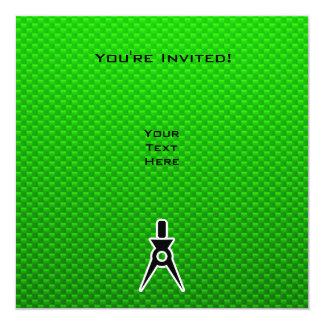 Green Architect 13 Cm X 13 Cm Square Invitation Card
