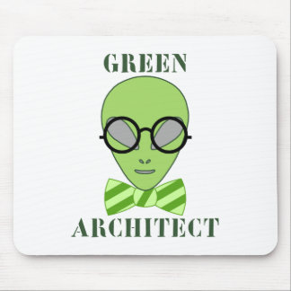 Green Architect Mouse Pads