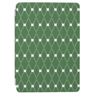 Green Argyle Lattice iPad Air Cover