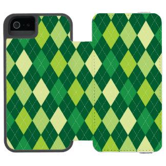 Green argyle pattern incipio watson™ iPhone 5 wallet case