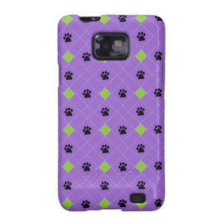 Green Argyle Paw Prints Samsung Galaxy S Cover