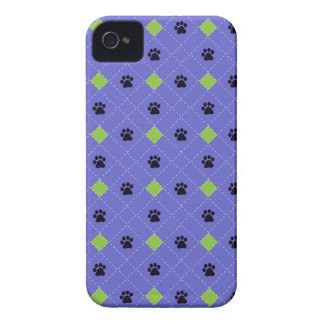Green Argyle Paw Prints iPhone 4 Case-Mate Cases