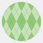 Green Argyle Sticker