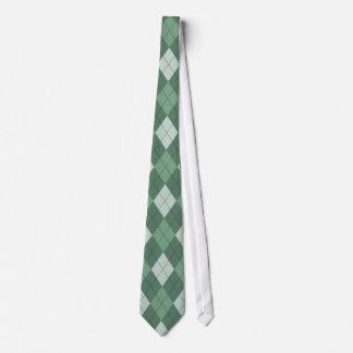 Green Argyle Tie