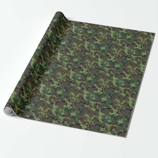 Green Army Camo Trendy Classic Camouflage Guys Wrapping