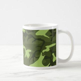 Green army camouflage design basic white mug