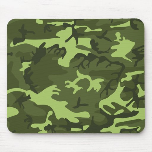 Green army camouflage design mousepads
