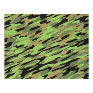 Green Army Camouflage Textured 21.5 Cm X 28 Cm Flyer