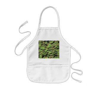 Green Army Camouflage Textured Aprons