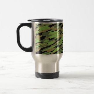 Green Army Camouflage Textured Travel Mug