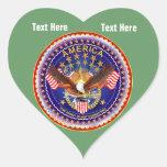Green Army Heart Sticker