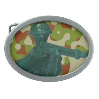 Green Army Man Belt Buckle