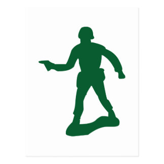 Green Army Man Postcard