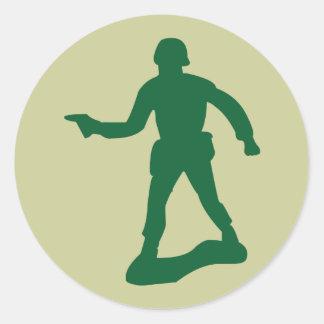 Green Army Man Sticker