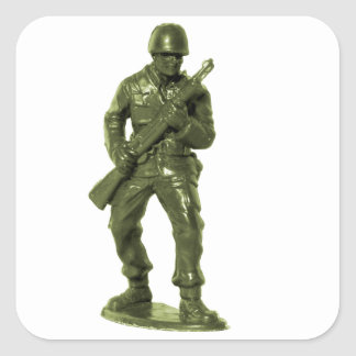 Green Army Man Square Sticker