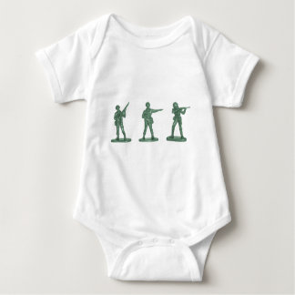 Green Army Men Baby Bodysuit